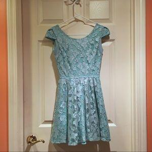 Robin's Egg Blue Lace Dress